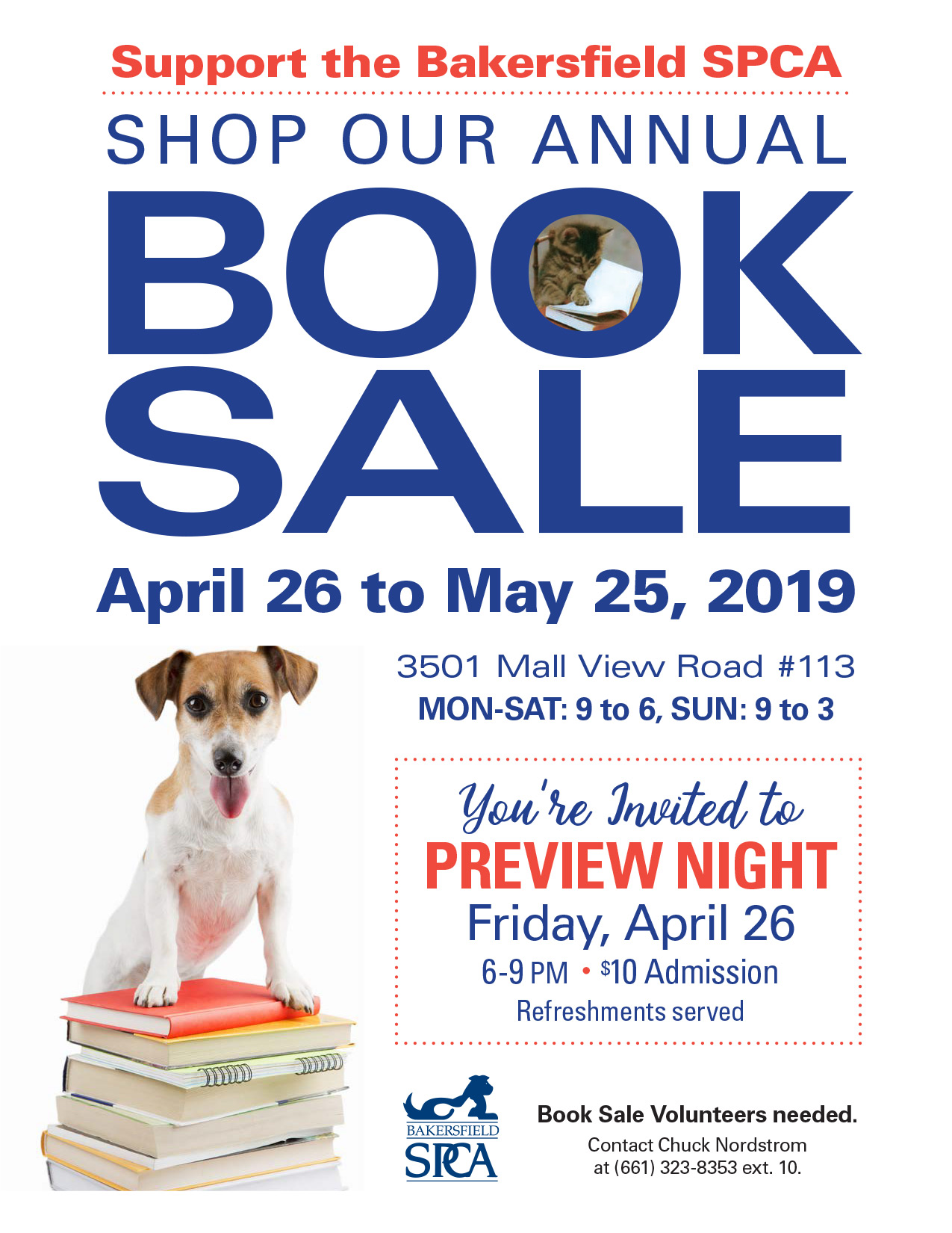 Bakersfield SPCA Book Sale